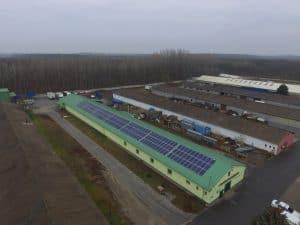 ipari épületek napelemes megoldása