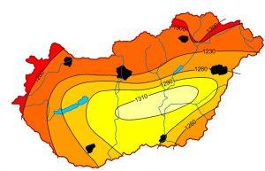 magyarország napsütés besugárzás