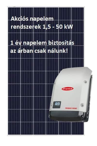 akciós napelem rendszer biztosítással