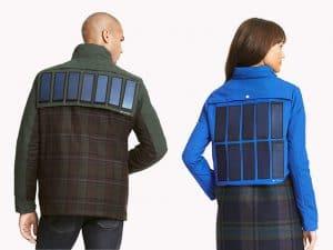 fúthető kabát napelemes töltéssel